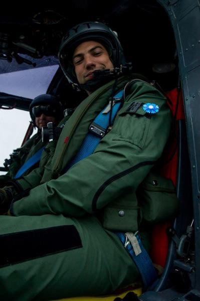 Le pilote de l'hélicoptère « Lynx ».