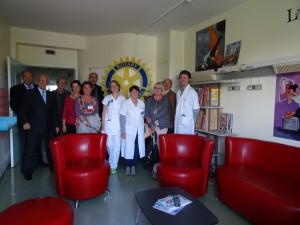 Inauguration du salon des Grands Enfants au CHU AVEC LE ROTARY